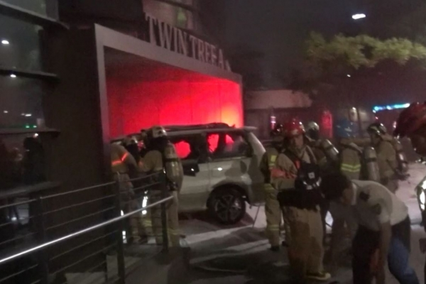 Man dies after setting fire to van in front of Japanese Embassy