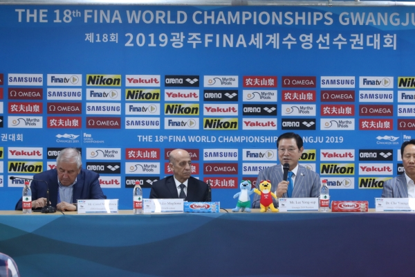 [Gwangju 2019] FINA calls athletes' podium protests 'unfortunate'