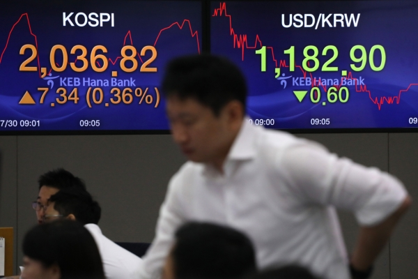 Kospi to plunge below 2,000 on prolonged Korea-Japan trade spat