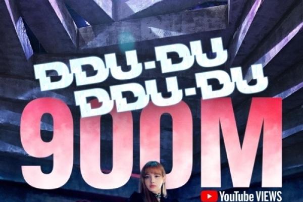 BLACKPINK's 'Ddu-du Ddu-du' gets 1st K-pop group record of 900 m YouTube views