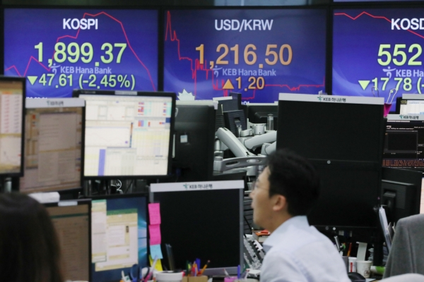 Korean won dips further amid looming currency war