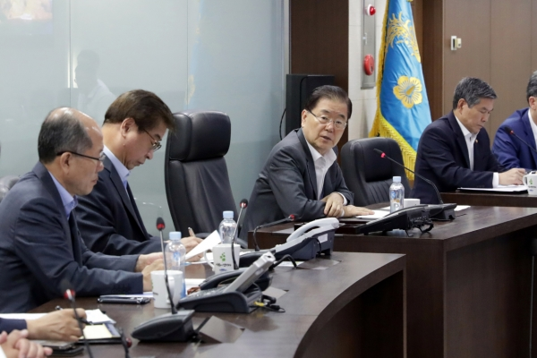 Cheong Wa Dae holds NSC meeting over NK projectiles