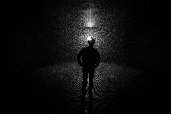 'Rain Room' raises questions about control and agency