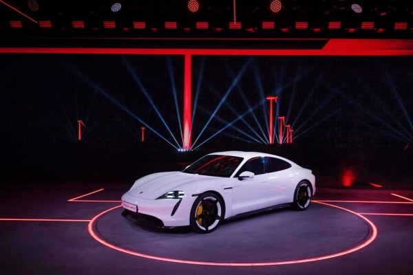 Porsche unveils first-ever electric sports car Taycan