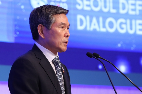Defense chief vows to work with patience on N. Korea, urges cooperation of neighboring countries