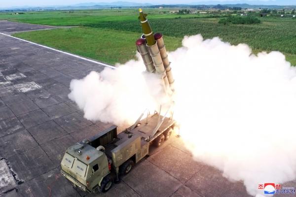 [Newsmaker] N. Korea's short-range projectiles possibly 'super-large MRLS' or ATACMS: experts
