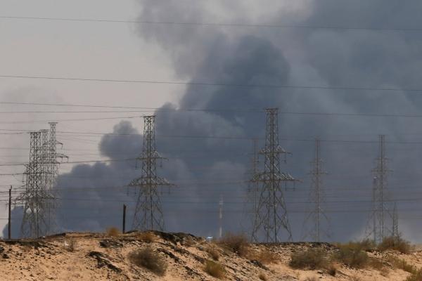 사우디 폭격에 유가 폭등…브렌트유 장중 19% 상승