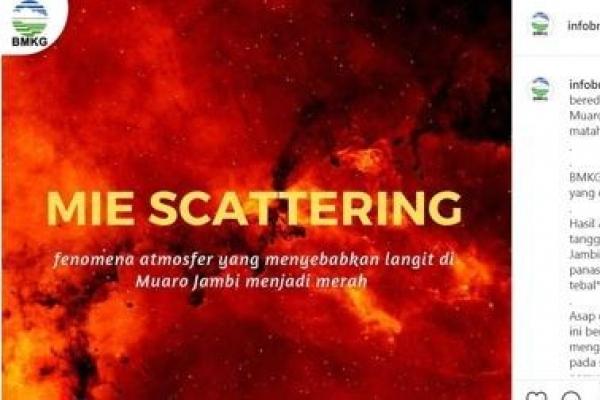 인니 산불 지역 '붉은 하늘' 현상에 술렁…과학적 설명 나서