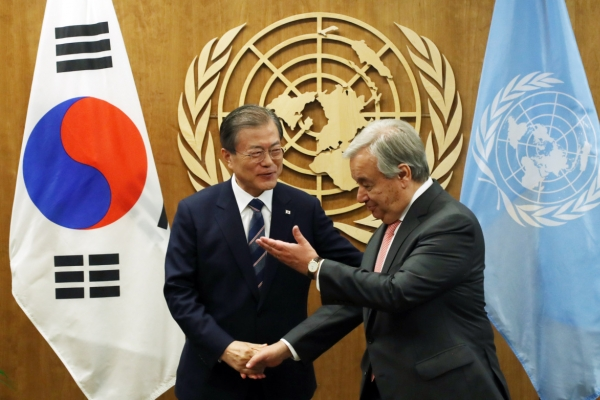 Moon seeks wider cooperation for peace, environment