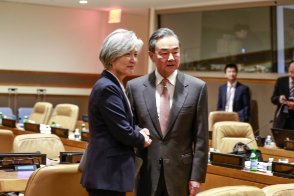 S. Korean, Chinese foreign ministers reaffirm cooperation on North Korea
