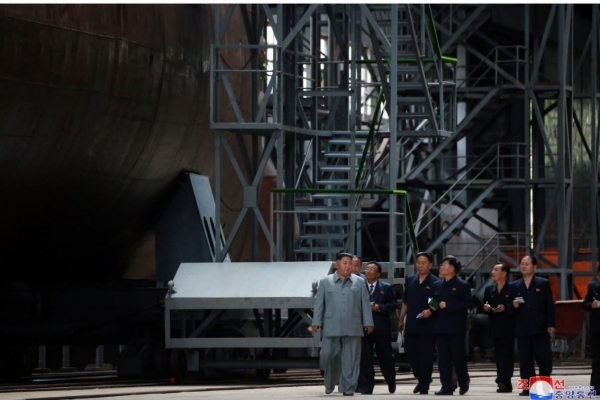 N. Korea continues to build new ballistic missile submarine: 38 North