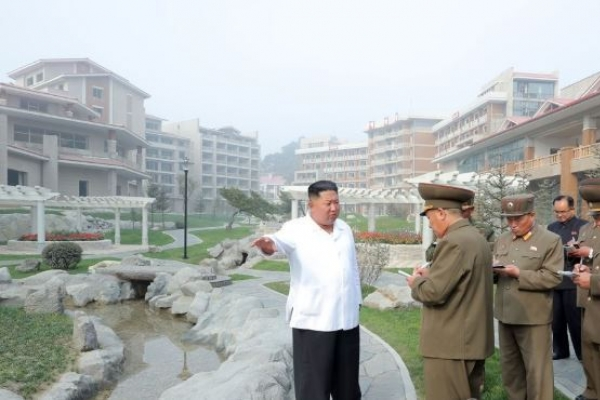 N. Korean leader inspects spa resort, voices great satisfaction