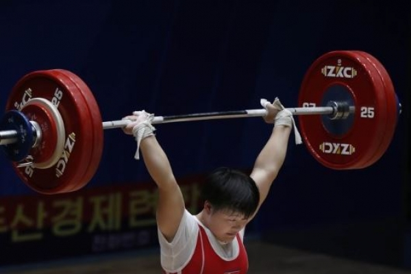 S. Korean weightlifter wins first gold at youth competition in Pyongyang