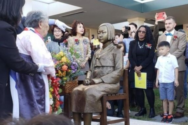 Comfort woman statue gets settled in Virginia after 3 years in warehouse