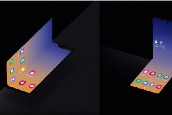 삼성전자, 가로로 반 접히는 새로운 형태 폴더블스마트폰 공개