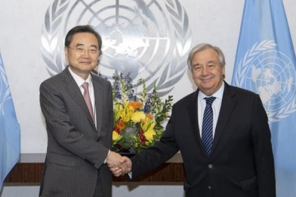 New S. Korean ambassador to UN vows to focus on Korea peace process