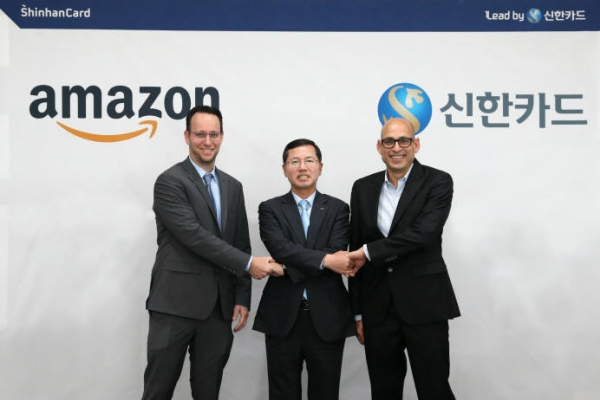 Shinhan Card announces 3-year partnership with Amazon