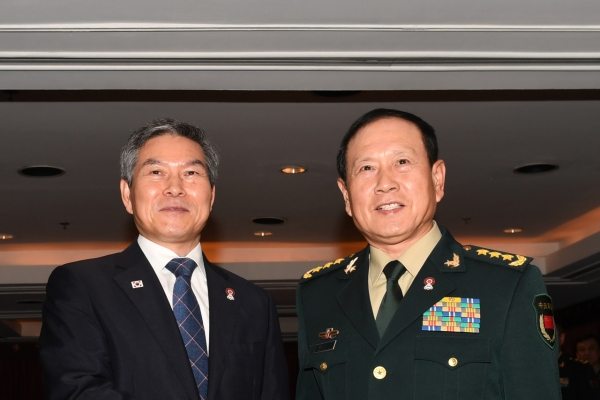 S. Korean, Chinese defense chiefs agree to boost strategic communications