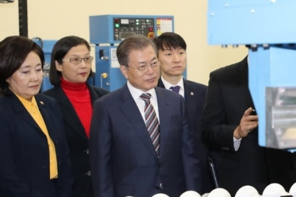 Moon emboldened by new corporate investment in chip material production
