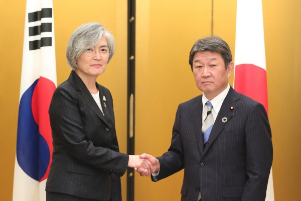 FM Kang says S. Korea, Japan agree to coordinate on Moon-Abe summit next month