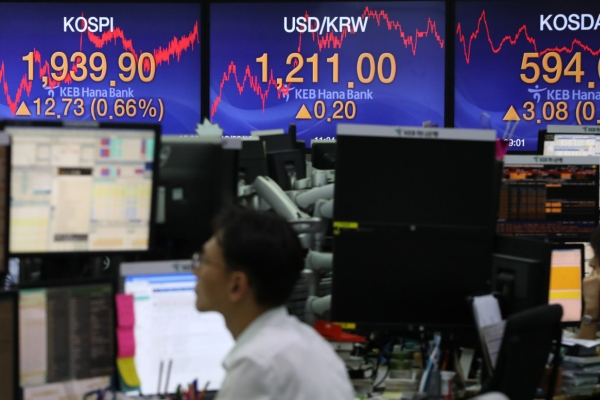 S. Korean shares open lower on US-China trade woes
