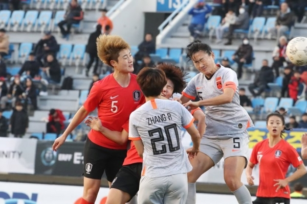 S. Korea draw 0-0 with China in Bell's coaching debut at East Asian women's football tourney