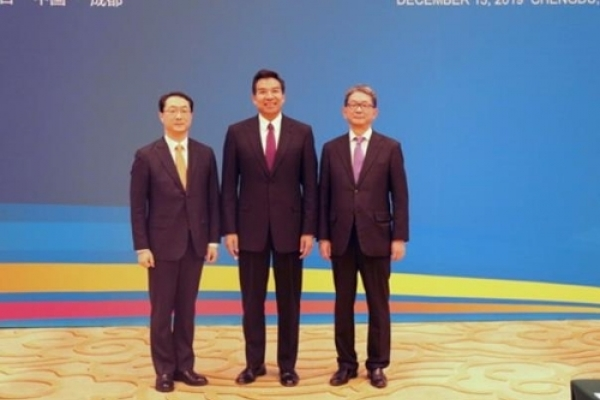 Senior diplomats of S. Korea, China, Japan met ahead of trilateral summit