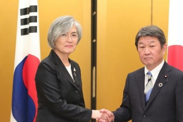 Top diplomats of S. Korea, Japan hold talks in Spain