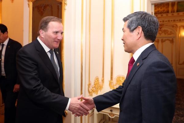 S. Korea, Sweden vow continued efforts to deepen security, defense ties