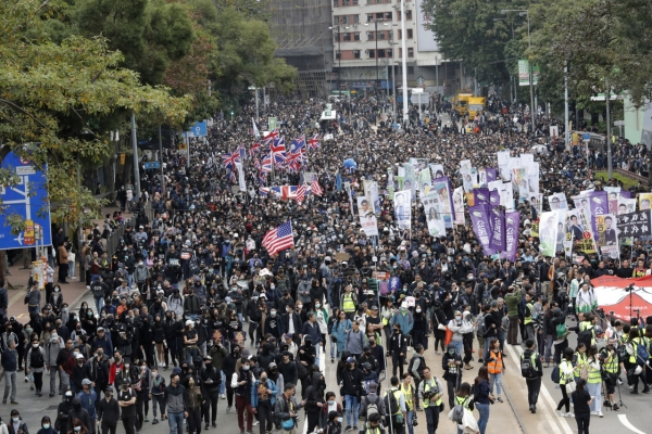 Massive Hong Kong pro-democracy rally ends in police clashes