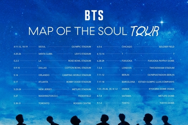 BTS announces beginning of new world tour in April