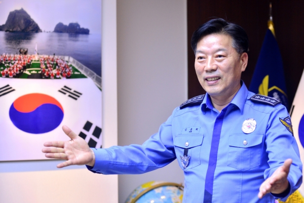 [Herald Interview] New head Kim pledges trustworthy, futuristic Korea Coast Guard