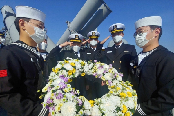 Navy holds commemorating ceremony ahead of 10th anniversary of Cheonan sinking
