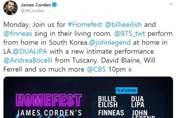 BTS to join James Corden's quarantine concert, 'Homefest'