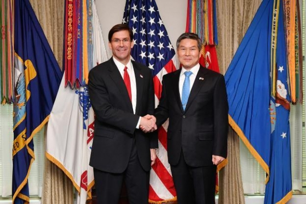 Esper says he called S. Korean counterpart to discuss defense cost deal