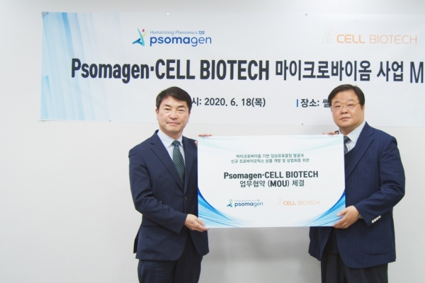 Psomagen, Cell Biotech sign MOU for microbiome biz