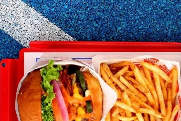 Ovo-lacto vegetarian burger at Fault Burger