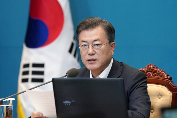 Moon calls for lawmakers' support in curbing housing prices, launching anti-corruption probe agency