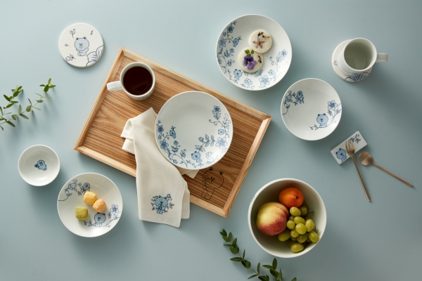Traditional tableware adds whimsy with Line Friends
