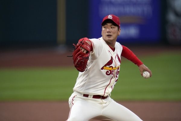 Cardinals' Kim Kwang-hyun determined to eat up more innings in 3rd MLB start
