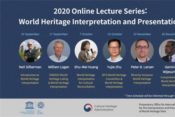 Online lectures on UNESCO World Heritage open Thursday