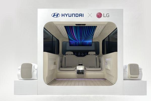 LG, Hyundai Motor co-work on homelike future car interior
