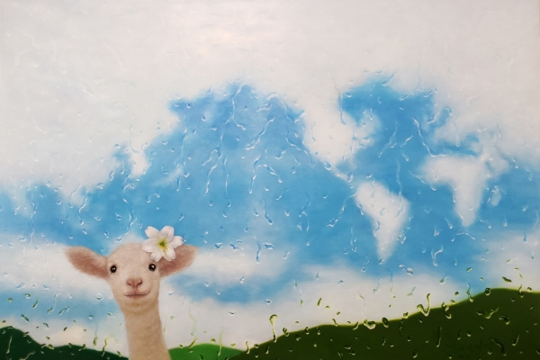 Sentimental waterdrop painting artist showcases new portrait drawing series
