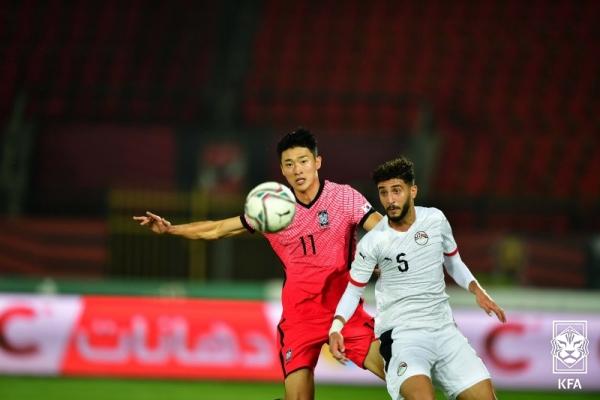 S. Korea play Egypt to scoreless draw in U-23 football friendly match