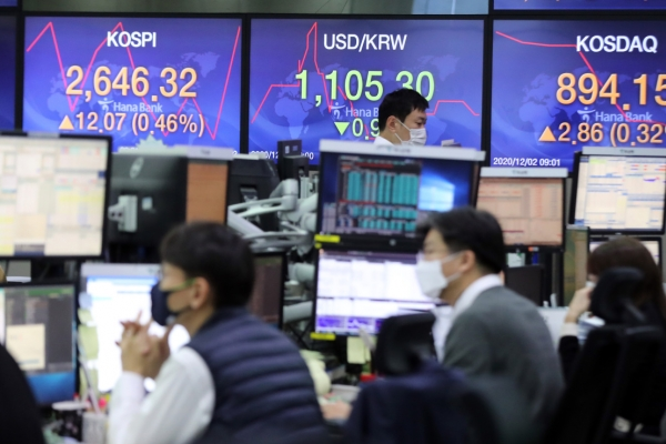 Seoul stocks set another record high; Korean won surges