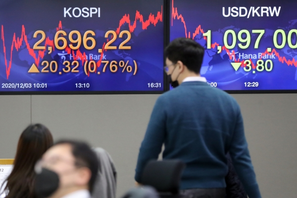 Seoul stocks finish record-high again on chip, auto gains; Korean won soars