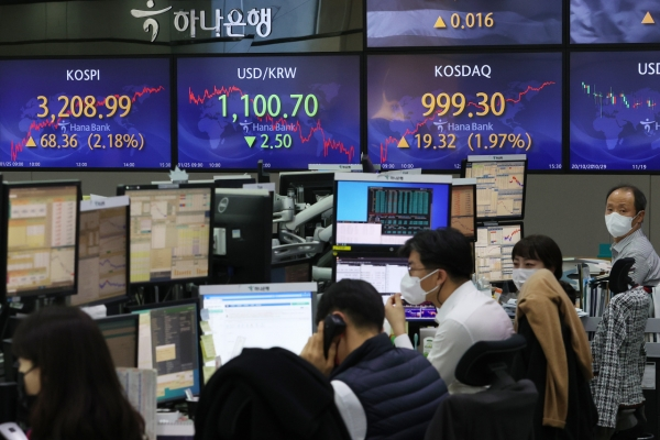 Seoul stocks surpass 3,200 to hit all-time high