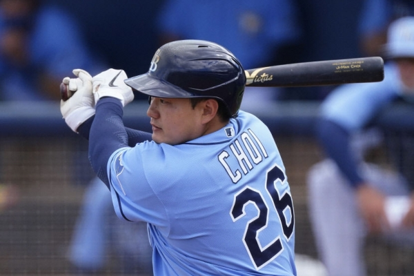 Injured Rays' infielder Choi Ji-man resumes training, itching to get back