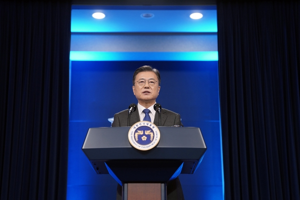 Moon, entering final year, pledges last-ditch efforts to revive NK diplomacy