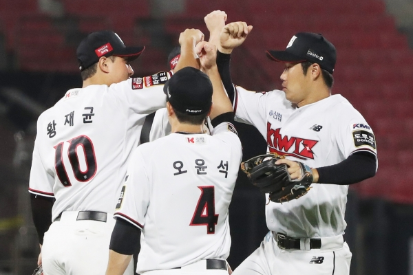 KT Wiz looking to pad lead in KBO pennant race, weather permitting